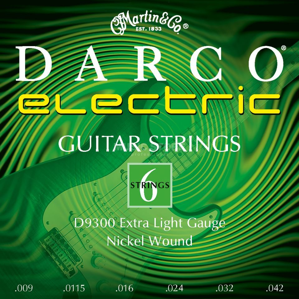 Darco E-Guitar Strings D9300 09-42 Nickel Produktbillede