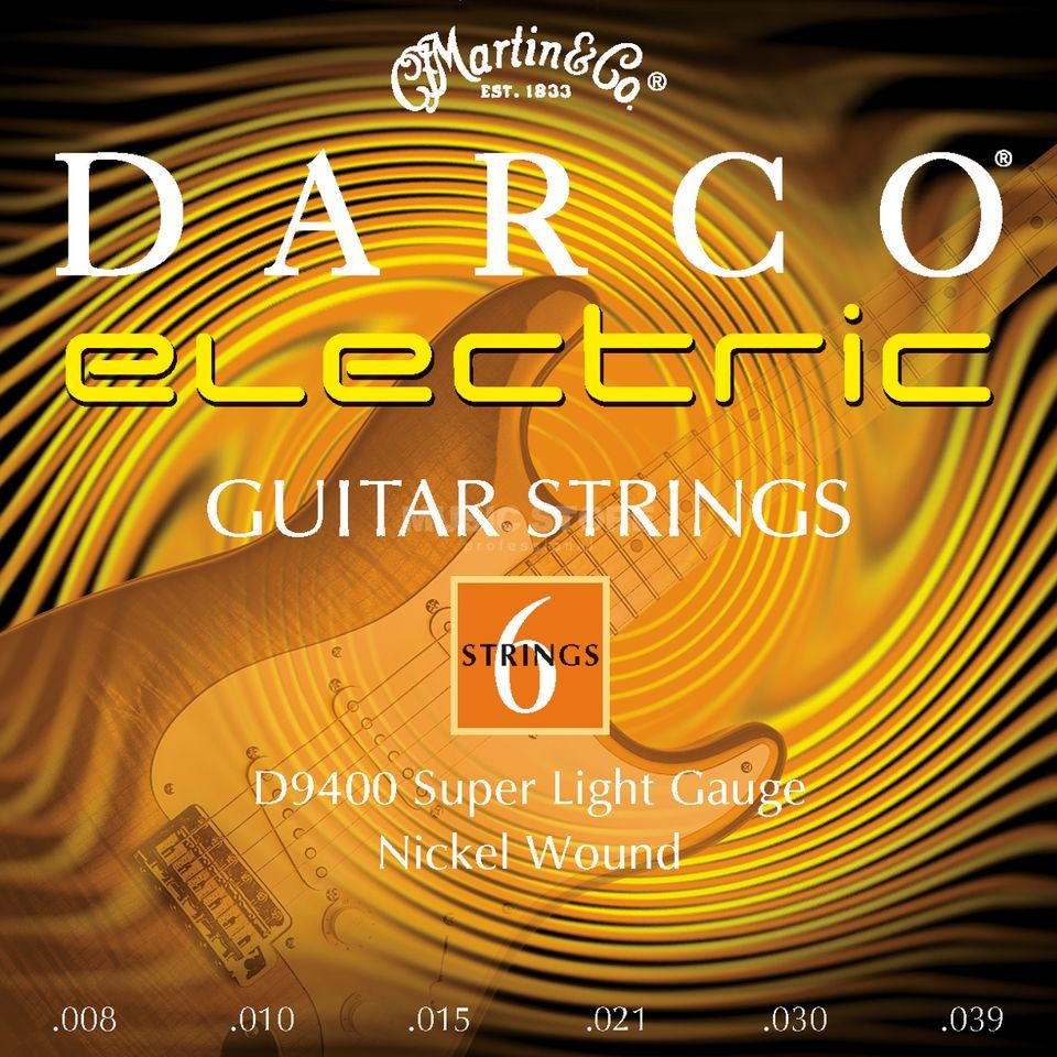 Darco E-Guitar Strings D9400 08-39 Nickel Produktbillede