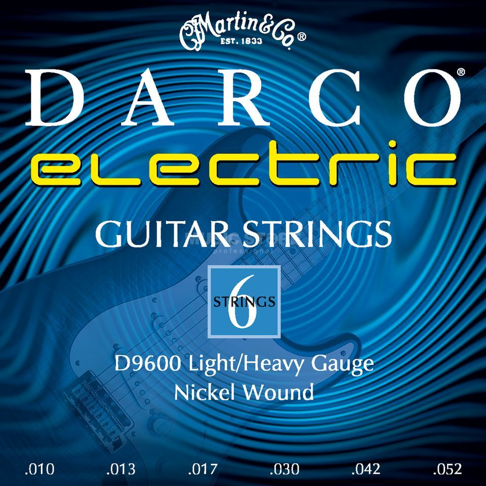 Darco E-Guitar Strings D9600 10-52 Nickel Produktbillede