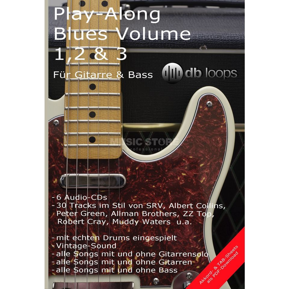 db loops Blues Triple Volume 1,2 & 3 Gitarre Playalong Produktbillede