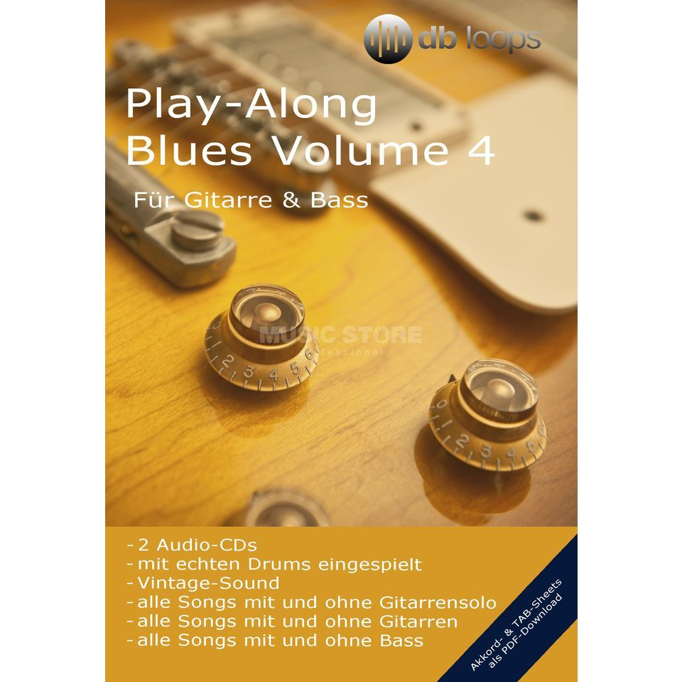 db loops Blues - Volume 4 Gitarre Playalong Produktbild