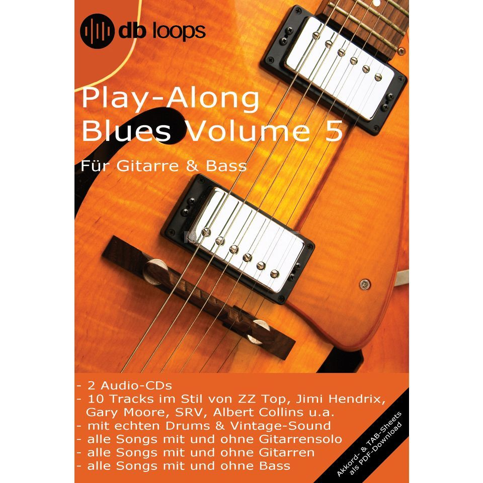 db loops Blues - Volume 5 Gitarre Playalong Produktbillede