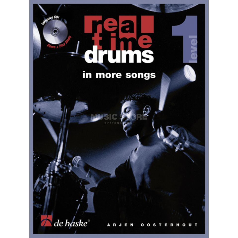 De Haske Real Time Drums in More Songs Arjen Oosterhout, mit CD Produktbild
