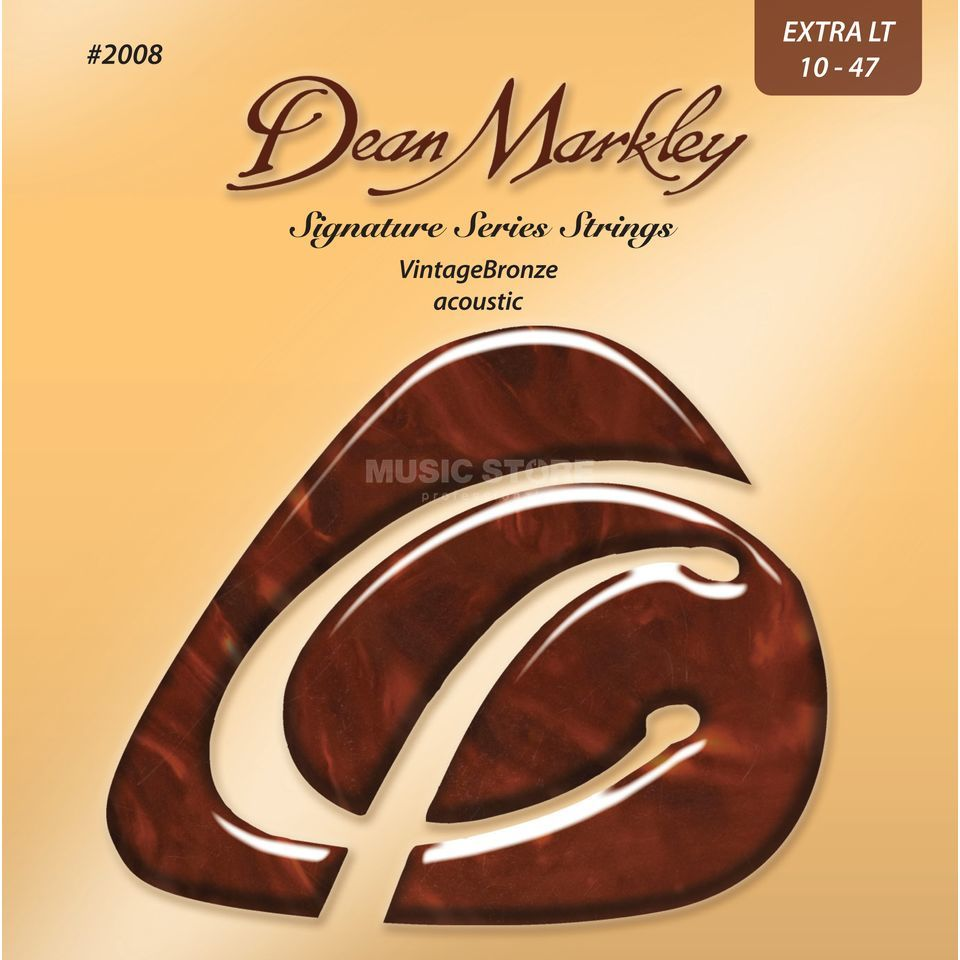 Dean Markley A-Guitar Strings 10-47 2008 XL VintageBronze Acoustic Produktbillede