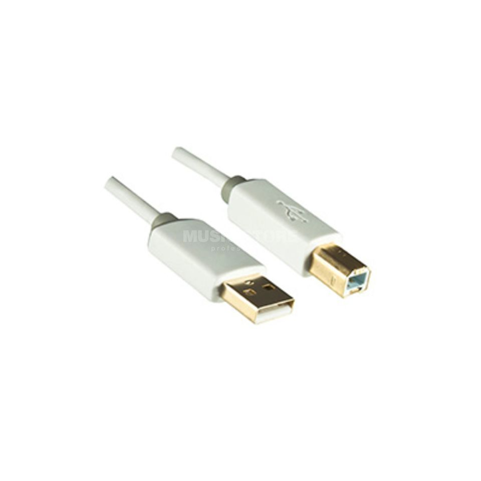 Dinic USB 2.0-Kabel weiß A-Stecker/B-Stecker 2m Product Image