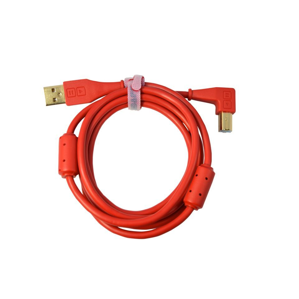 DJ TECHTOOLS DJTT USB Chroma Cable Red 1,5m, abgewinkelter Stecker Produktbild