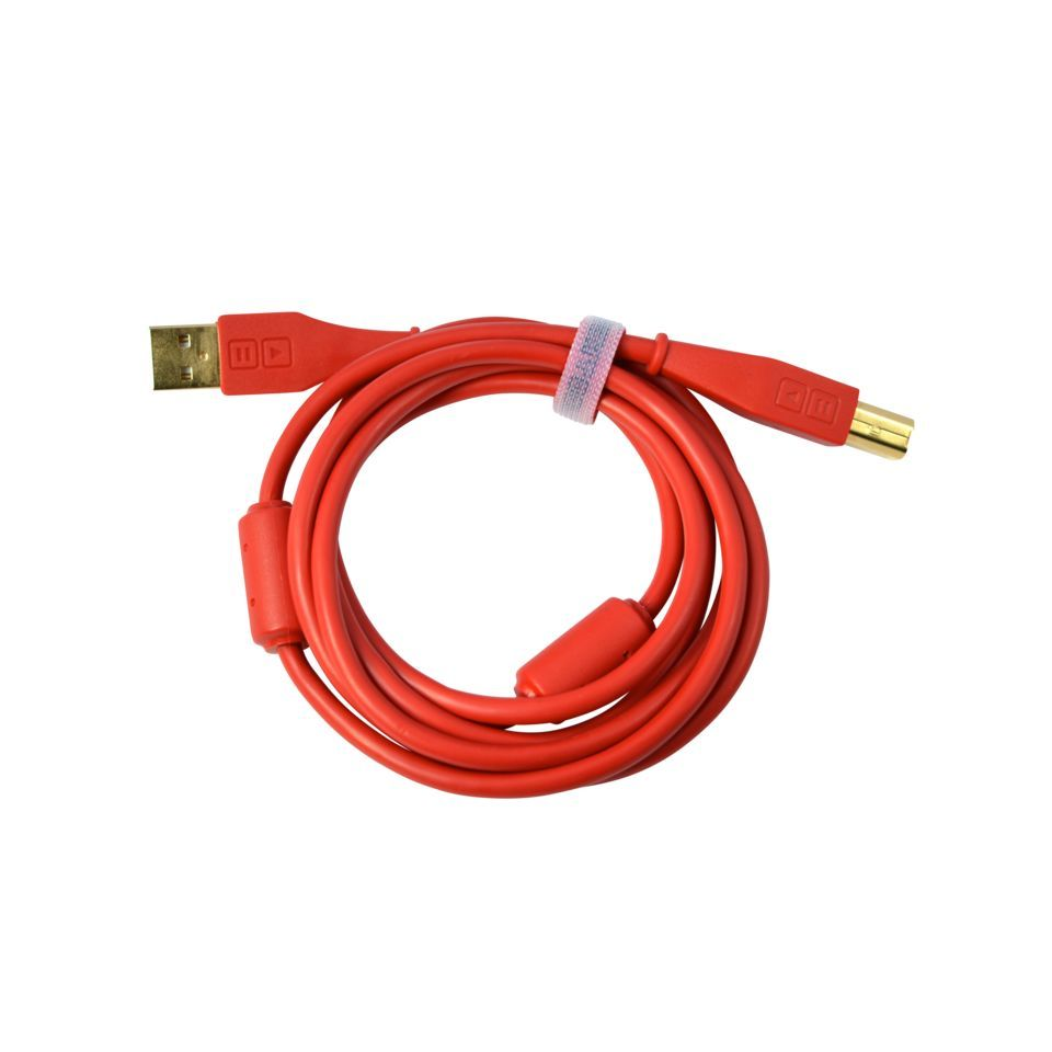 DJ TECHTOOLS DJTT USB Chroma Cable Red 1,5m, gerader Stecker Produktbild
