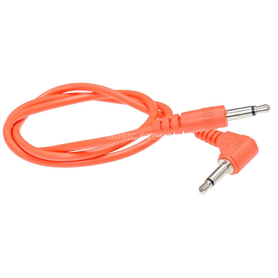 Doepfer A-100 C50 Patch Cable 50cm, orange, w/ angled plug Produktbillede