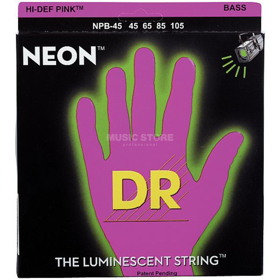 DR 4 Bass Strings 45-105 Hi-Def Neon Pink Neon  NPB-45 Product Image
