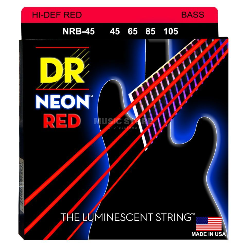 DR 5er Bass 45-105 Hi-Def Neon Red Neon NRB-45 Product Image