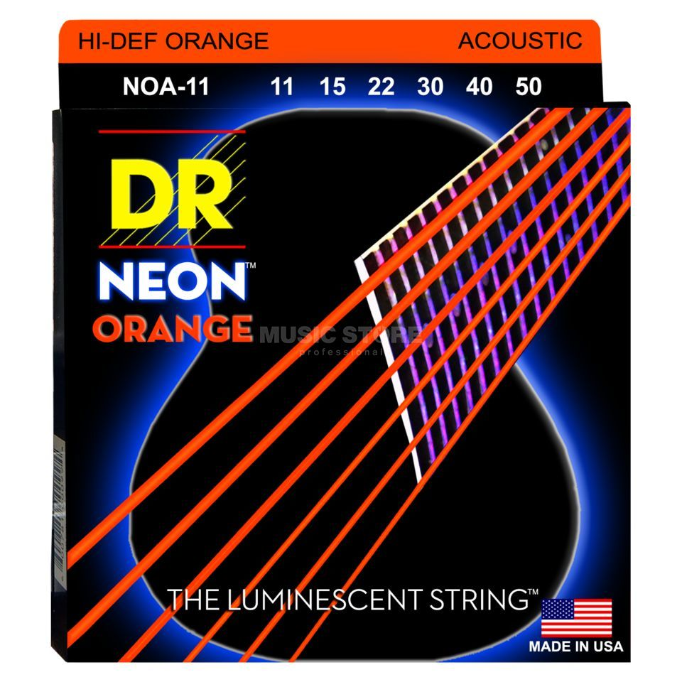 DR A-Guitar Strings 11-50 Hi-Def Orange NOA-11 Produktbillede
