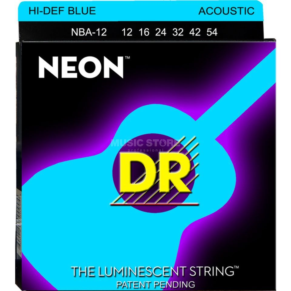 DR A-Guitar Strings 12-54 Hi-Def Blue NBA-12 Produktbillede