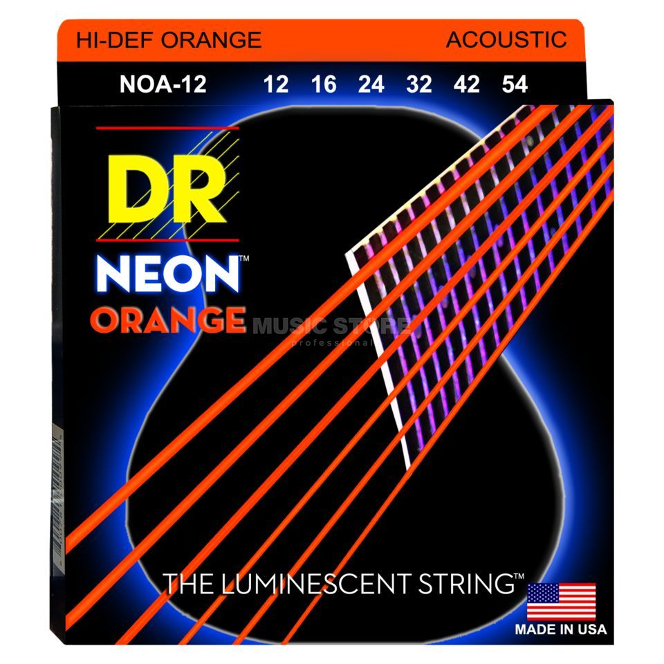 DR A-Guitar Strings 12-54 Hi-Def Orange NOA-12 Produktbillede