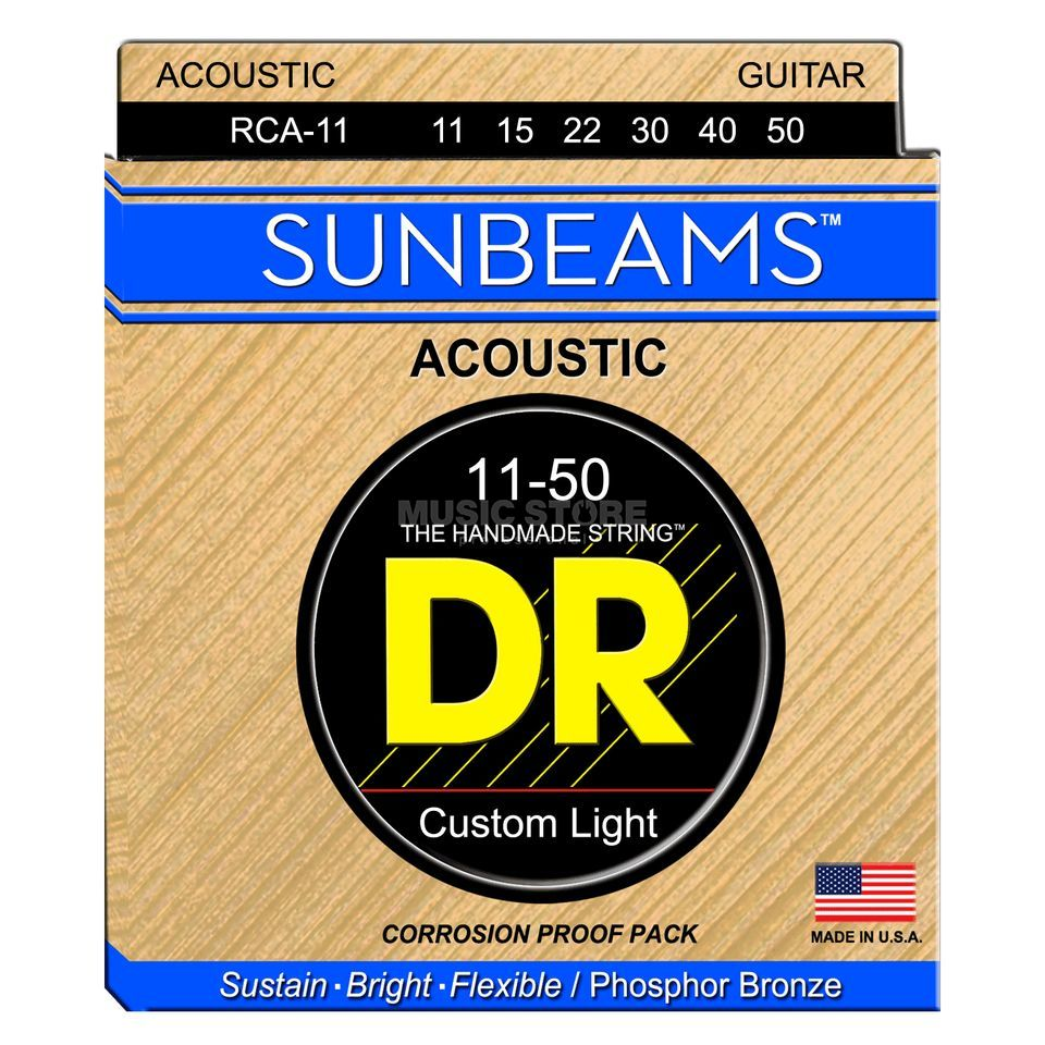 DR Acoustic Guiar Strings 11-50 Sunbeam Phosphorus Bronze RCA-11 Imagem do produto