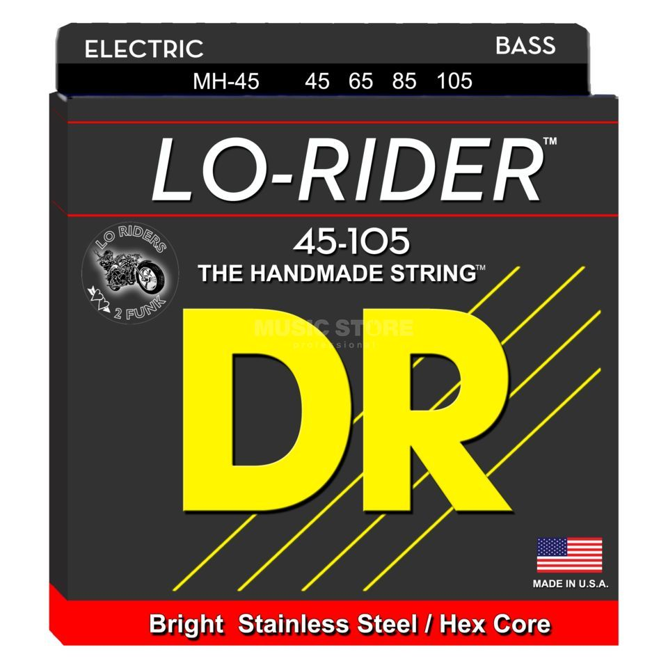 DR Bass 4 Set 45-105 Lo Rider Stainless Steel MH-45 Product Image