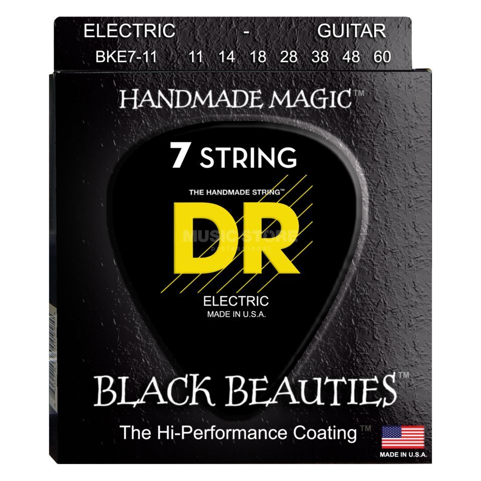 DR BKE7-11 11-60 Black Beauties 7-string Extra Life Produktbild
