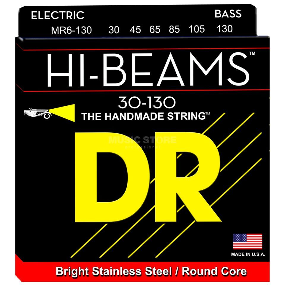 DR E-Bass 6er High Beam 030 - 130 Tite Medium Long Scale Produktbillede