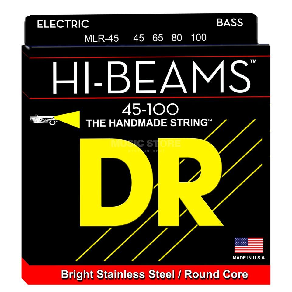 DR MLR-45 Hi-Beams Round Core Bass 4-Strings 45-100 Product Image