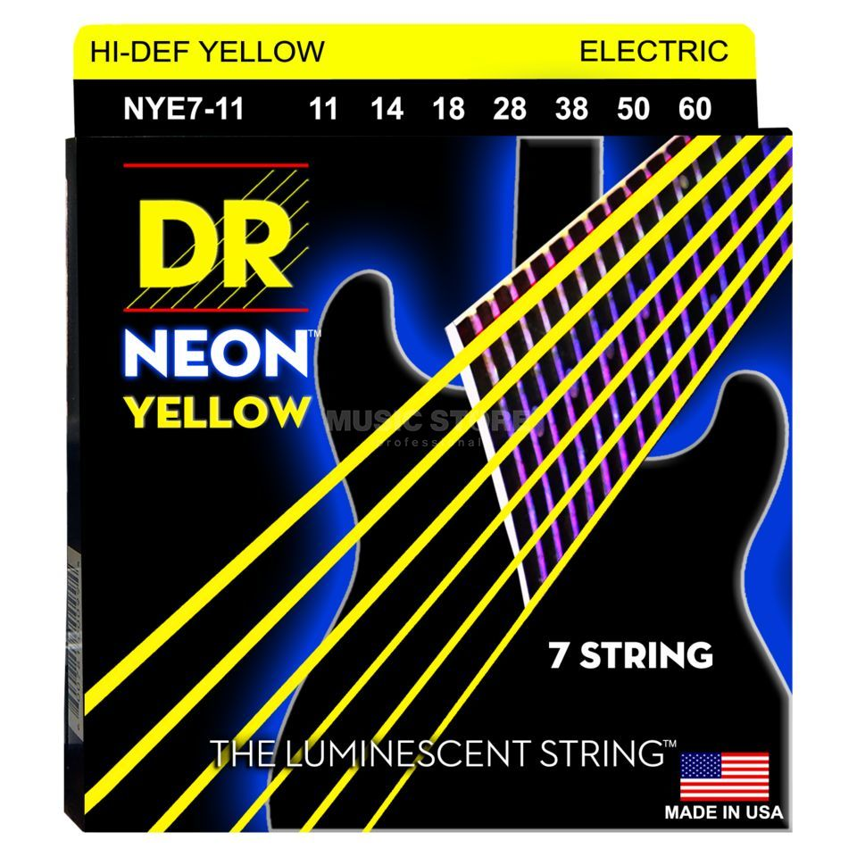 DR NYE7-11 11-60 HiDef Neon Yell 7-String Imagen del producto