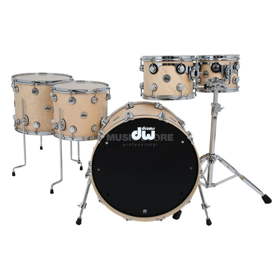 Drum Workshop Collector´s Satin Oil Shellset Natural, Chrome HW Product Image