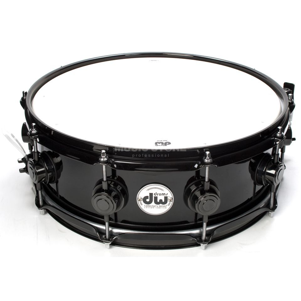 "Drum Workshop Collector…s Snare 14""x5"", Solid Black, Black HW Produktbillede"