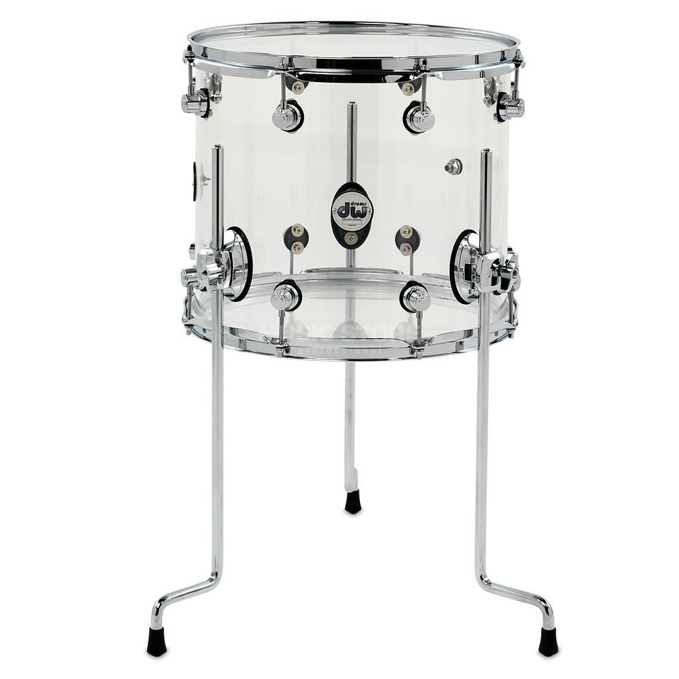 "Drum Workshop Design Acryl FloorTom 14""x12"", Clear Produktbillede"