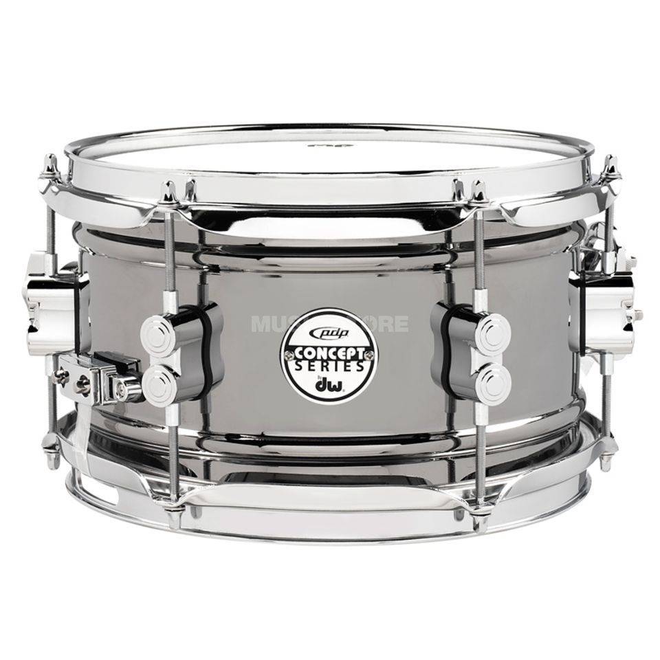 "Drum Workshop PDP Black Nickel Steel Snare 10""x6"" Produktbillede"