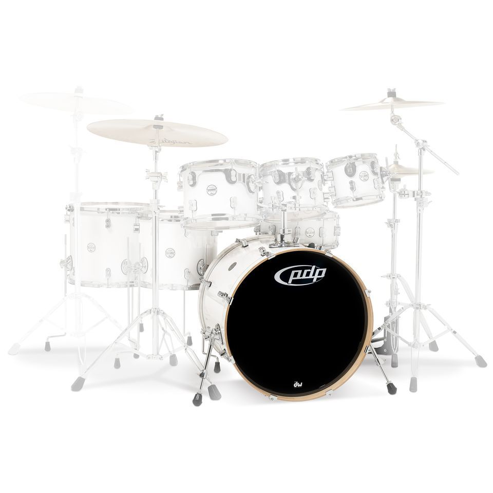 "Drum Workshop PDP Concept Maple BassDrum, 22""x18"", Pearlescent White Produktbillede"