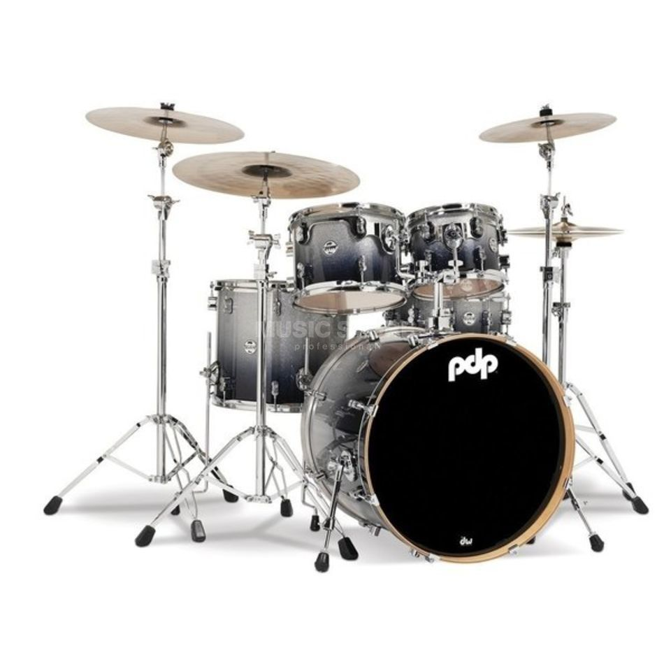 Drum Workshop PDP Concept Maple CM5, Silver to Black Fade Product Image