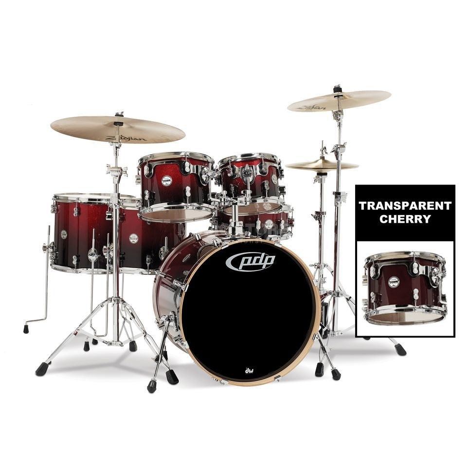 Drum Workshop PDP Concept Maple CM6, Transparent Cherry Produktbillede