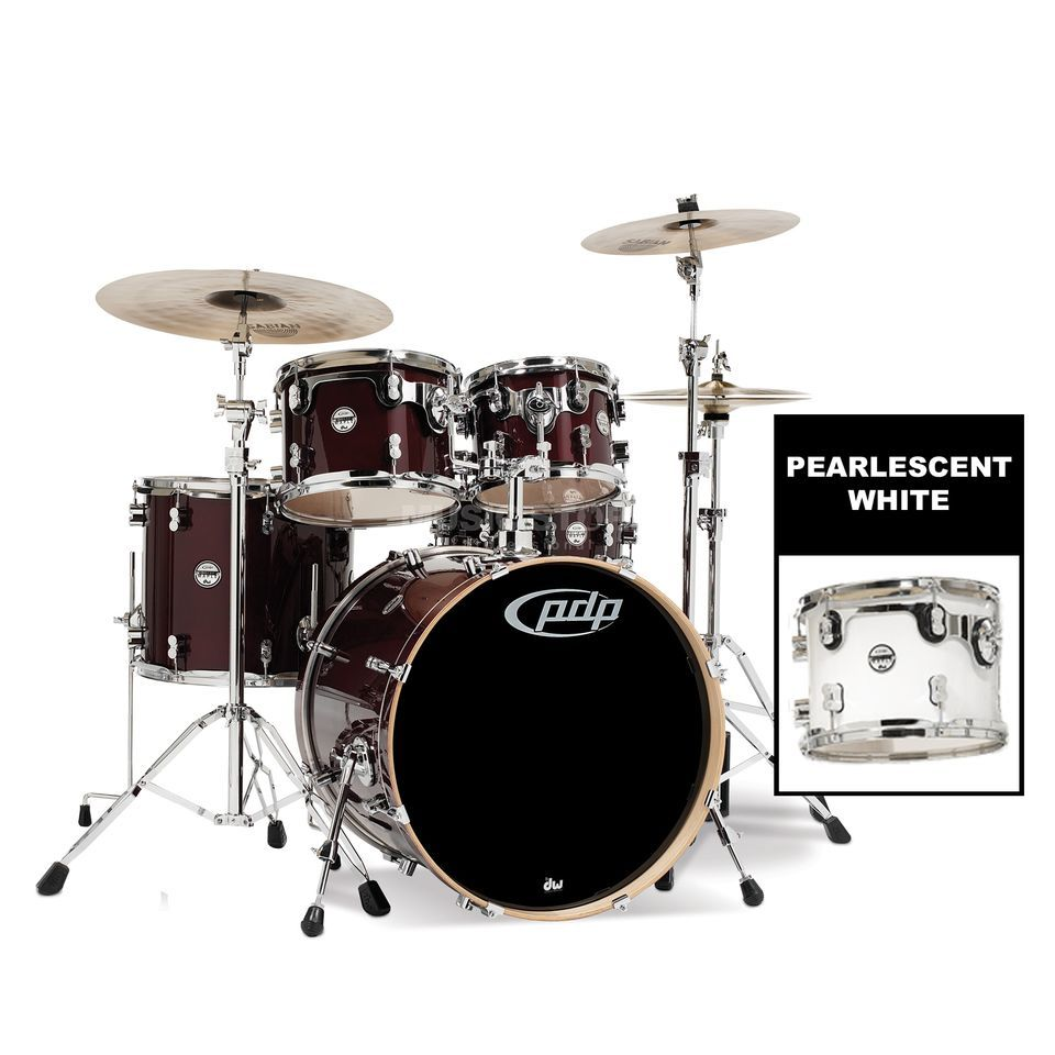 Drum Workshop PDP Concept Maple Studio CM5, Pearlescent White Produktbillede