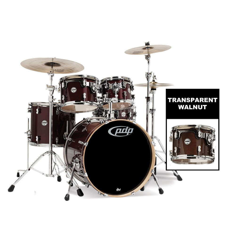 Drum Workshop PDP Concept Maple Studio CM5, Transparent Walnut Produktbillede