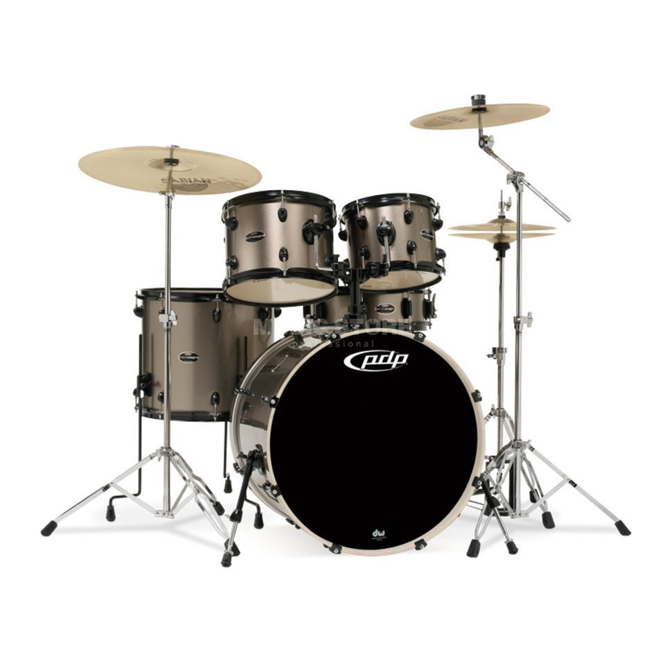 Drum Workshop PDP Mainstage Rock, Bronze Metallic, Black HW Produktbillede