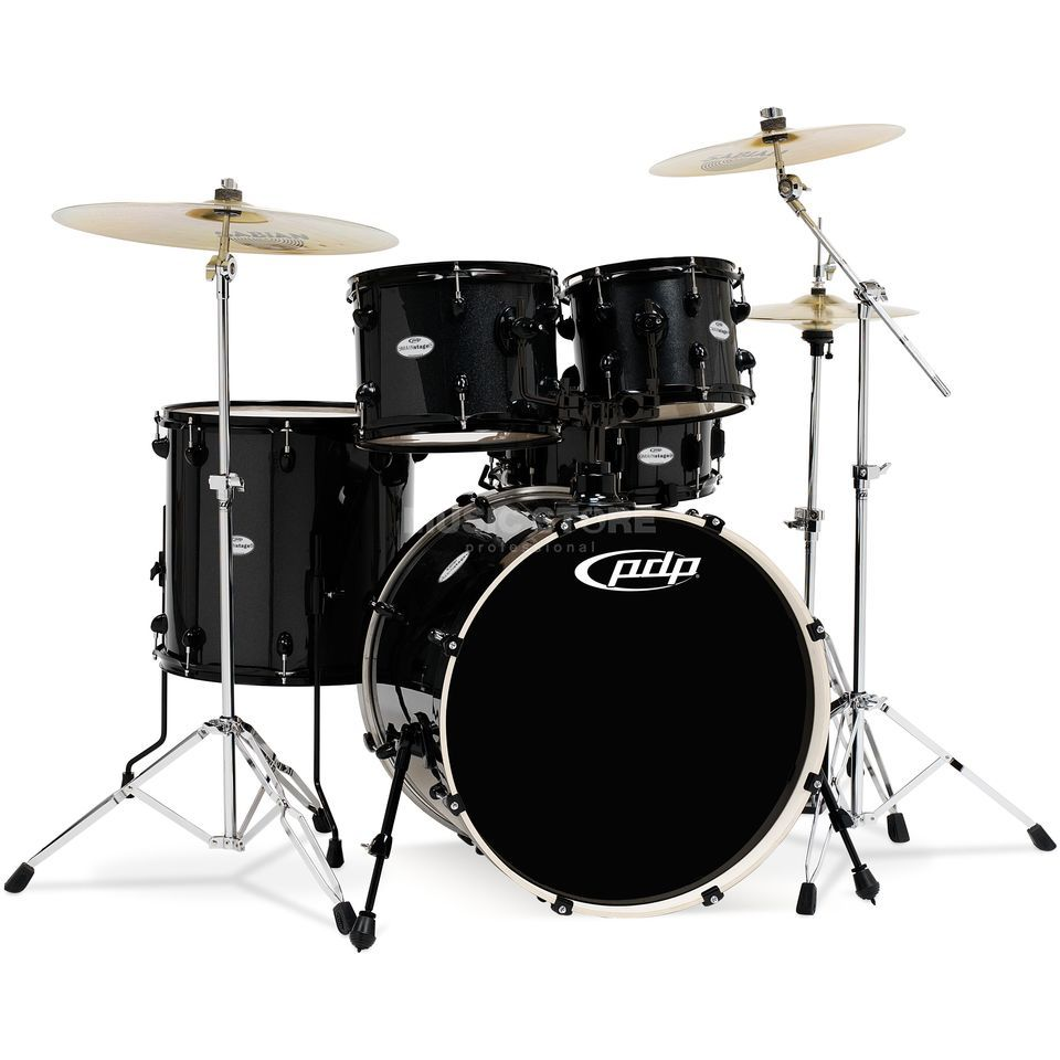 Drum Workshop PDP Mainstage Studio, Black Metallic, Black HW Product Image