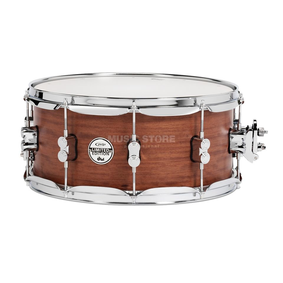 "Drum Workshop PDP Satin Oil Snare 14""x6,5"", Bubinga/Maple/Bubinga Product Image"