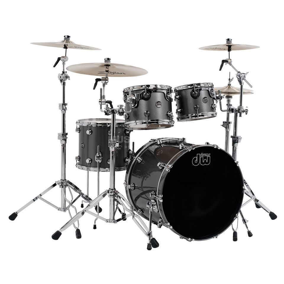 "Drum Workshop Performance ShellSet ""Fusion"", Lacquer, Gun Metal Metallic Produktbillede"