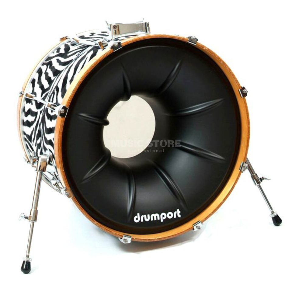 "Drumport Megaport Black Textured 22""  Produktbillede"