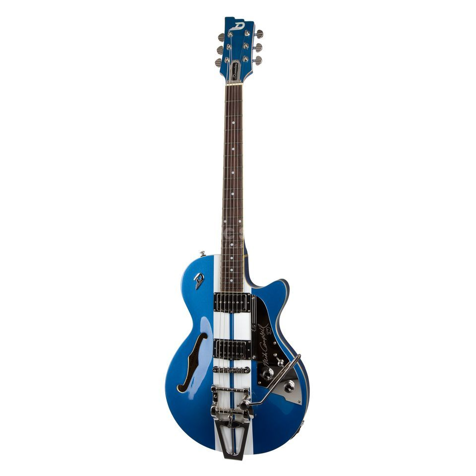 Duesenberg Starplayer TV Mike Campbell Blue Metallic / Ralley Stripes Produktbild