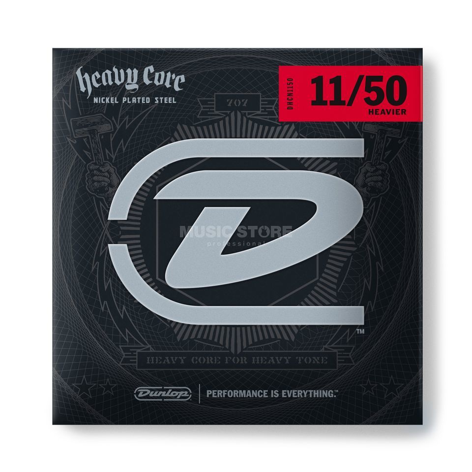 Dunlop E-Guitar Strings 11-50 Heavy Core Nickel Steel Produktbillede