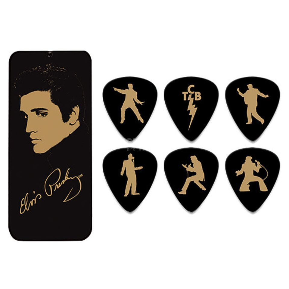 Dunlop Elvis Picks - Portrait 6er-Box Produktbillede