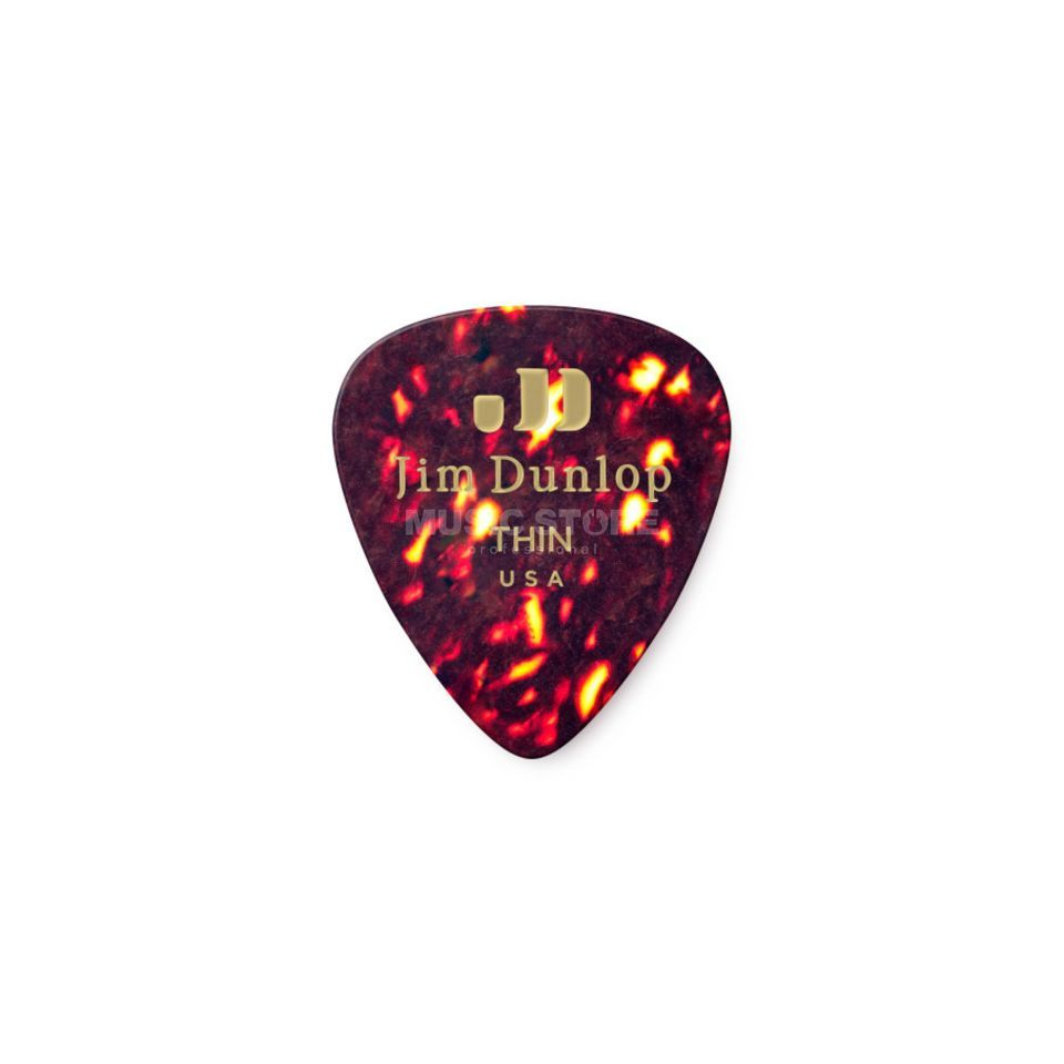 Dunlop Genuine Plectrum thin Shell 483, 12 Picks Produktbillede