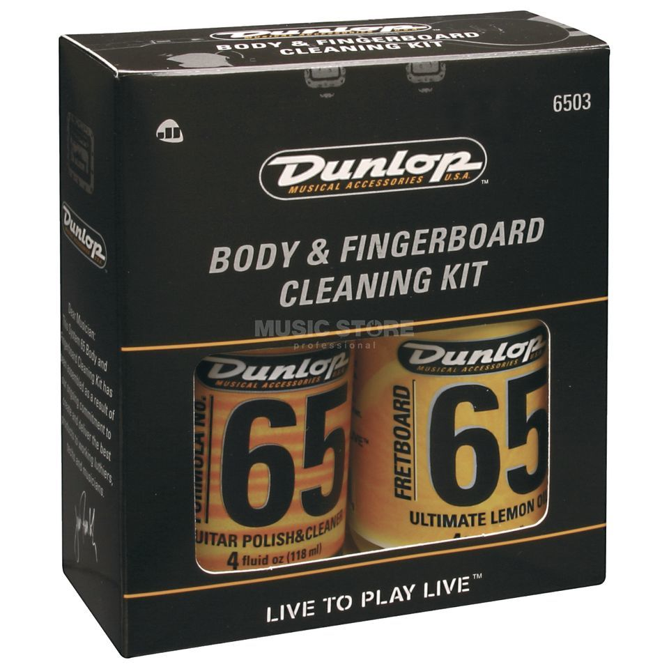 Dunlop Guitar Cleaning Kit/ Pflegeset 65 Griffbrett, Polish,2 Tücher Produktbild