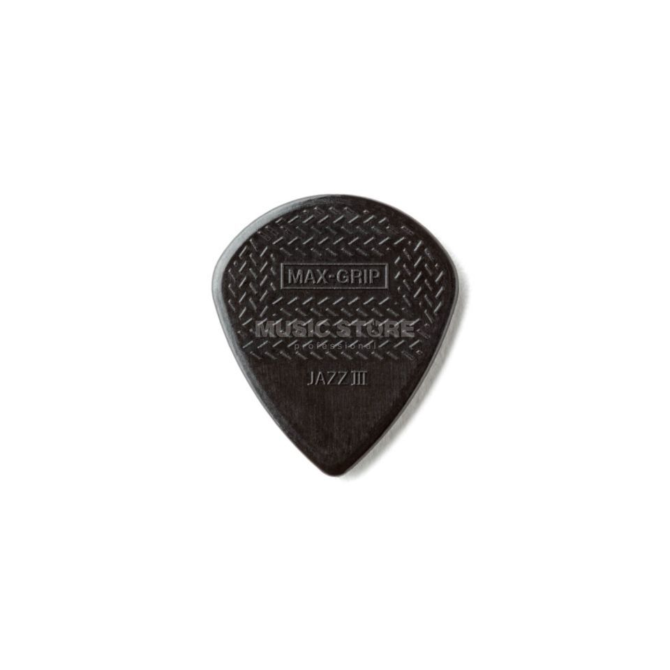 Dunlop Jazz III  Plek. Max Grip black stiffo 1,38mm,6er-Set Produktbild