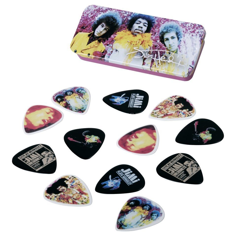 Dunlop Jimi Hendrix Picks - Are you Experienced medium, 12er-Box Produktbild