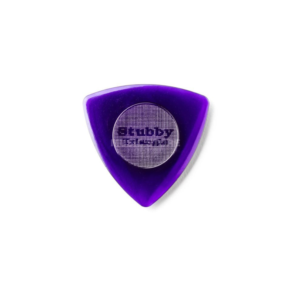 Dunlop Plek. Stubby Triangle 3,00mm 6er-Set Dark Purple Produktbillede