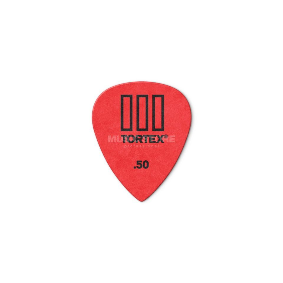 Dunlop Tortex III 462 Picks 0,50 12-Pack, red Produktbillede