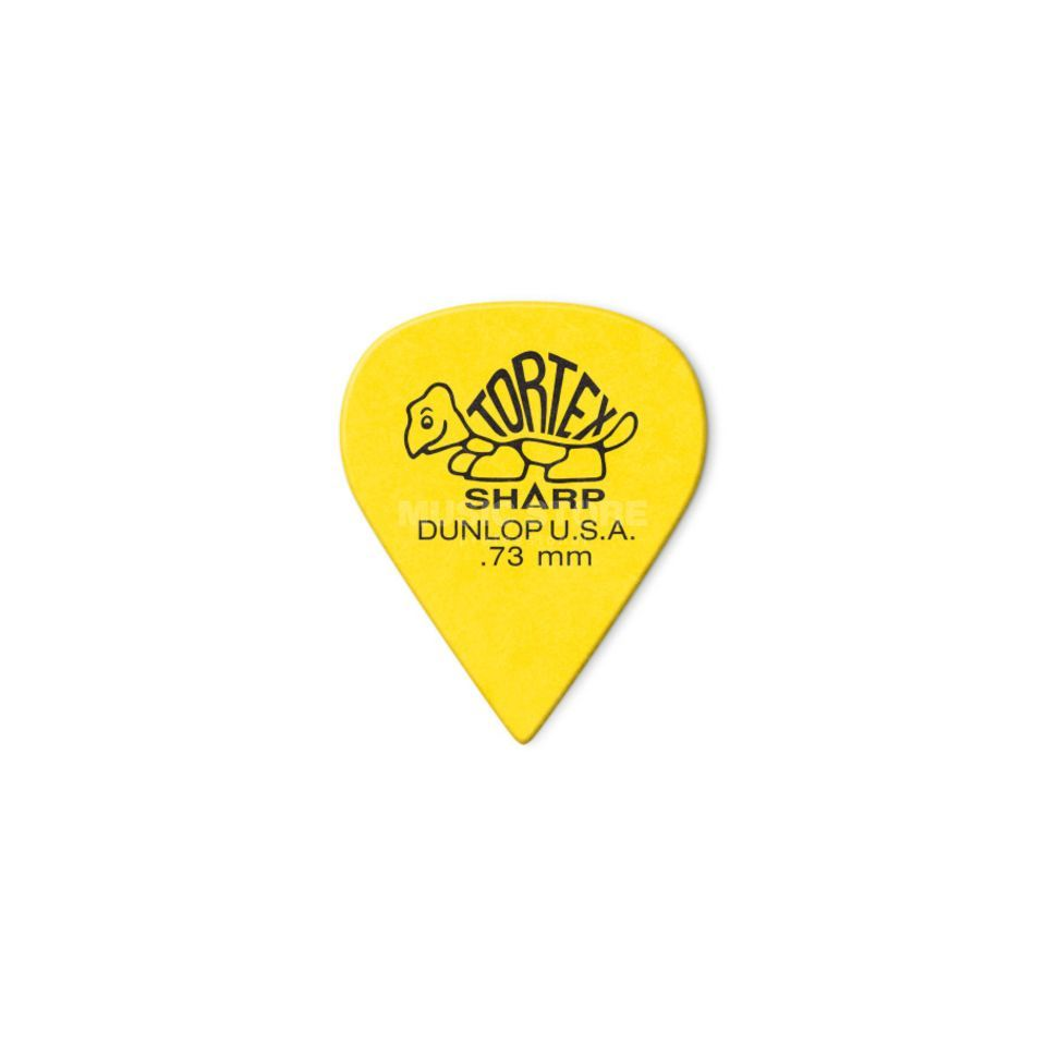 "Dunlop Tortex Sharp 412 Picks 0.73"" yellow x12 Produktbillede"