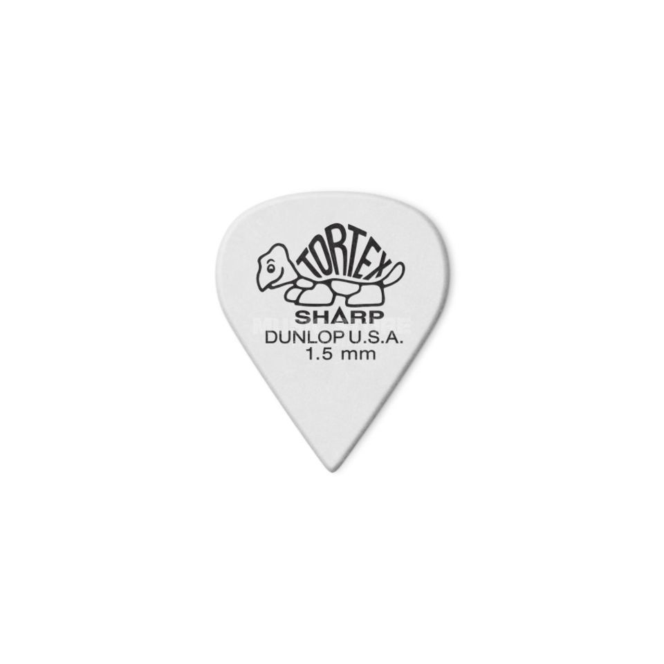 "Dunlop Tortex Sharp 412 Picks 1.50"" white x12 Produktbillede"