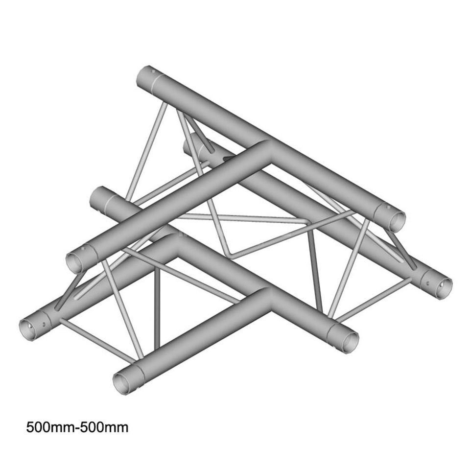DURATRUSS DT 23 T36-H, 3-Point Truss T-Piece, 3-Way, horizontal Produktbillede