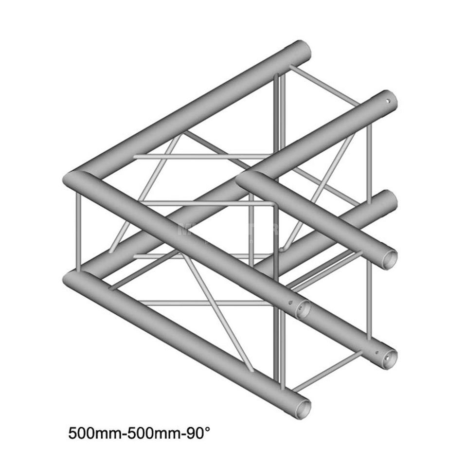 DURATRUSS DT 24 C21-L90, 4-Point Truss 90° Corner, 2-Way, 50cm Produktbillede